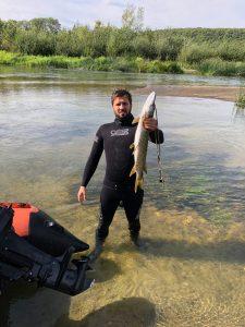 Подводная охота в охотхозяйстве на Волге
